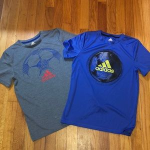 Lot of two boys adidas tops
